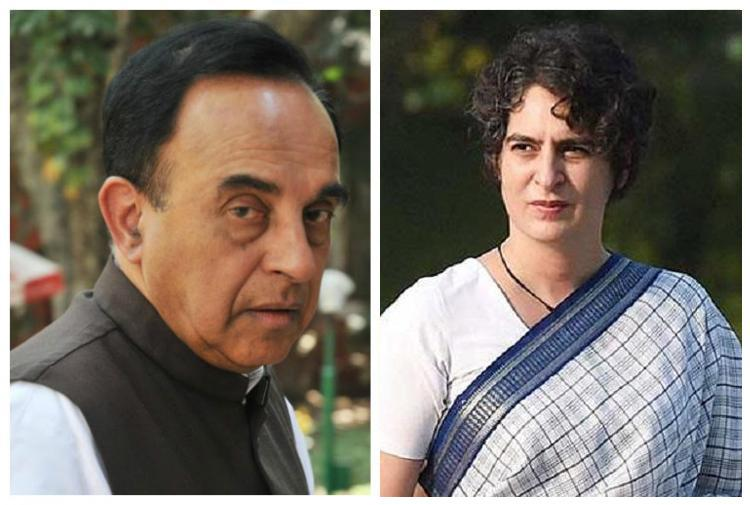 Dear Subramanian Swamy your words on Priyanka Gandhi and mental illness are toxic