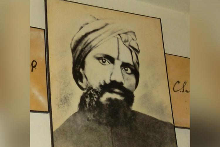 A picture of Tamil poet Subramanya Bharathi