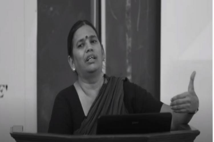 Activist Sudha Bharadwaj addressing in an event