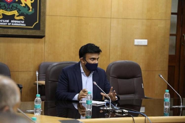 Health Minister K Sudhakar