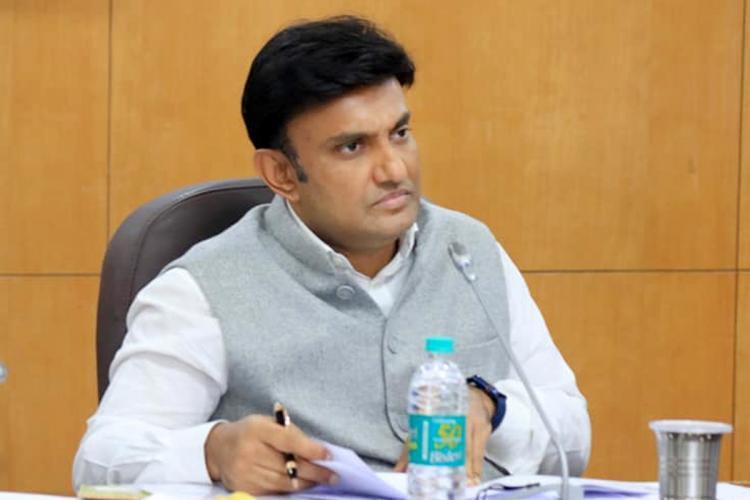 Photo of Health Minister Dr K Sudhakar from an earlier meeting