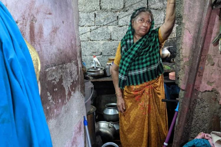 Mattancherry native Suhara inside her house with no toilet facility