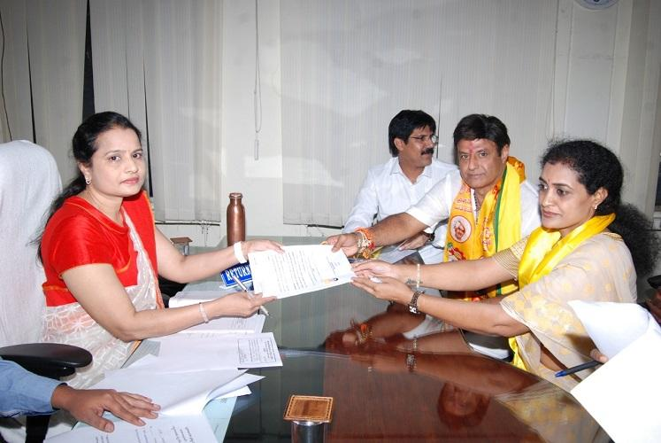 NTRs granddaughter files nomination in Telangana to contest from Kukatpally for TDP
