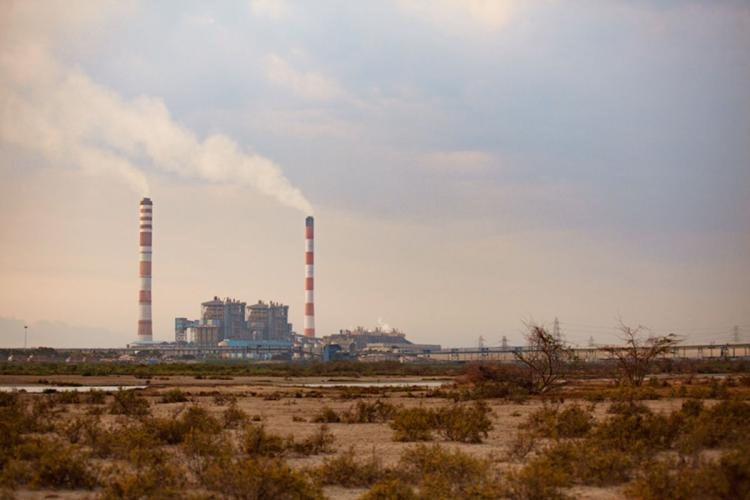 View of the North Chennai Thermal Power Station in Tamil Nadu