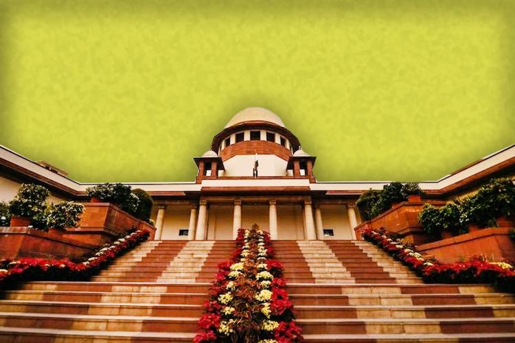 Supreme Court of steps decorated with flowers