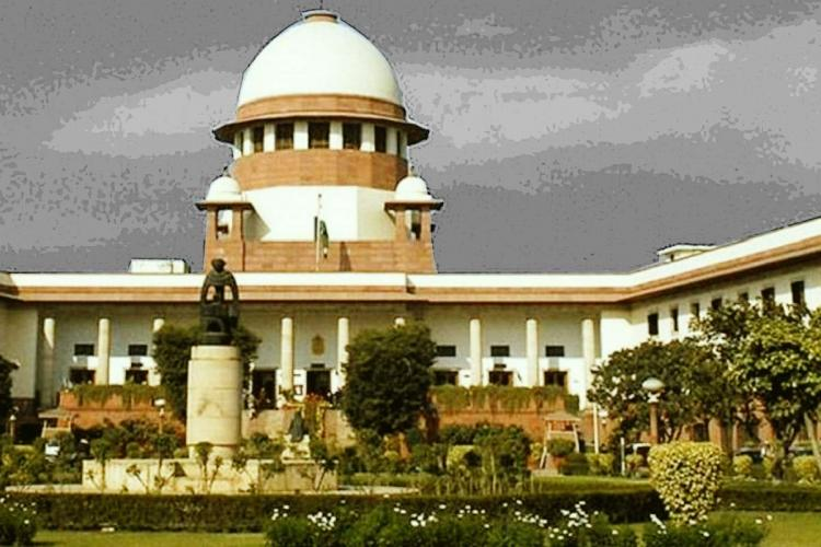 A stylised picture of the Supreme Court of India