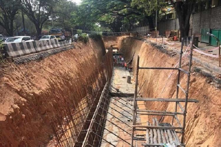 Work on Suranjan Das Road on SWD