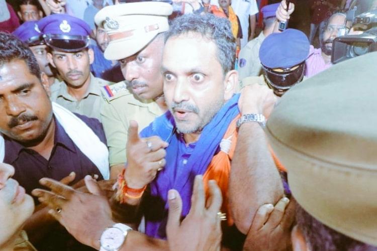 Kerala govt says cops didnt desecrate Surendrans irumudikettu produce video proof