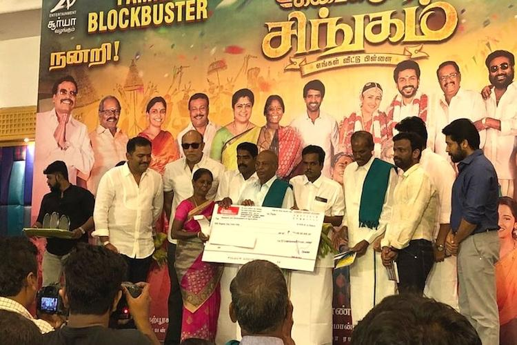 Suriya donates Rs 1 Cr for Tamil Nadu farmers at KKS success meet