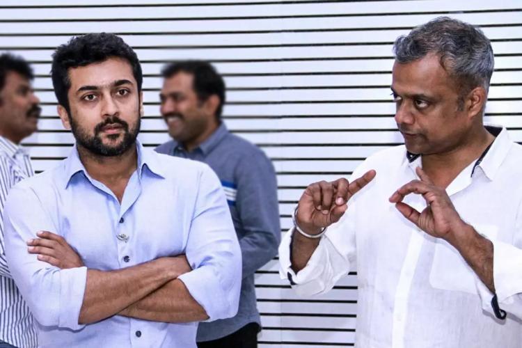 Suriya and Gautham Vasudev Menon