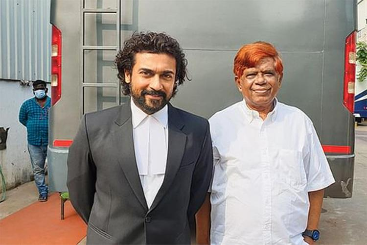 Suriya and retd. Judge K Chandru