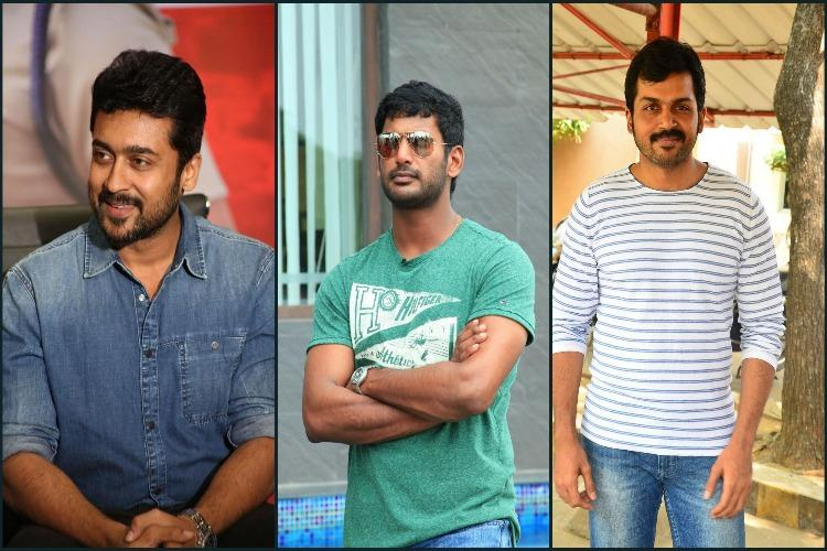 Actors Vishal Suriya and Karthi volunteer to pay assistants from their own remuneration