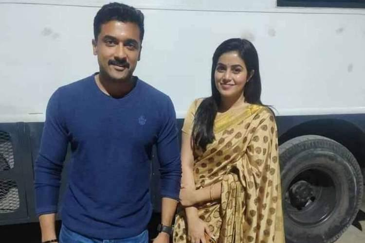 Actor Poorna is the latest to join the sets of Suriyas Kaappaan