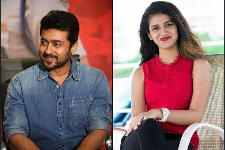 Priya Prakash Varrier not in Suriyas next