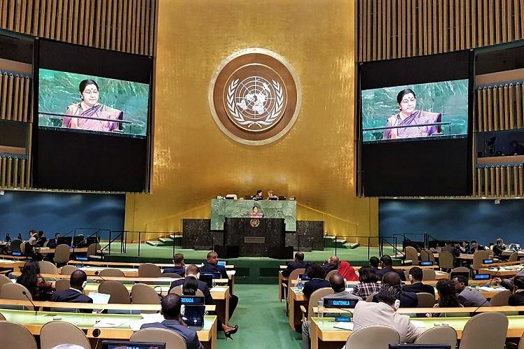 Pakistan worlds greatest exporter of havoc death and inhumanity Sushma Swaraj at UN