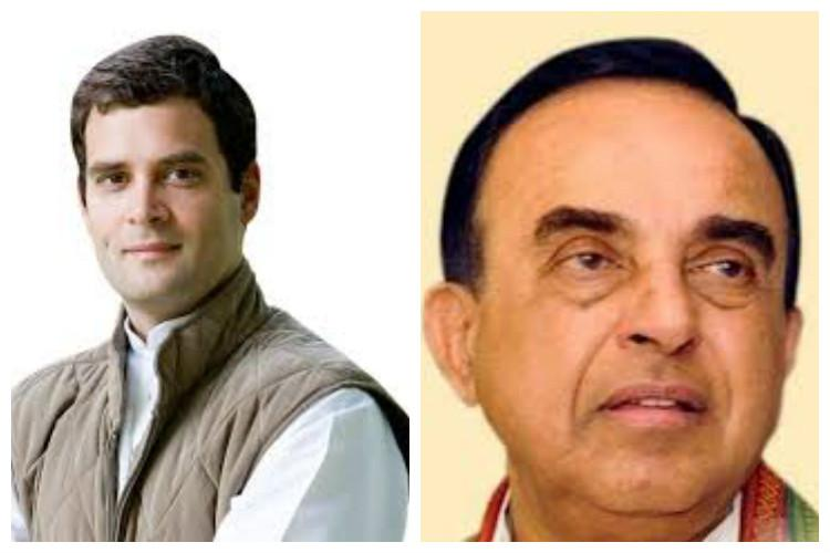 Swamy accuses Rahul Gandhi of declaring himself as a British national violating Indian law