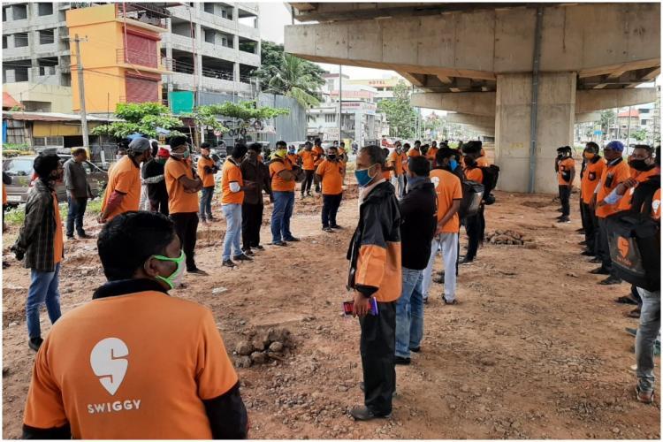 Swiggy employees protest
