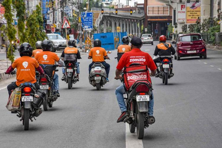 Zomato Swiggy Uber score least on fair working conditions for workers among all apps