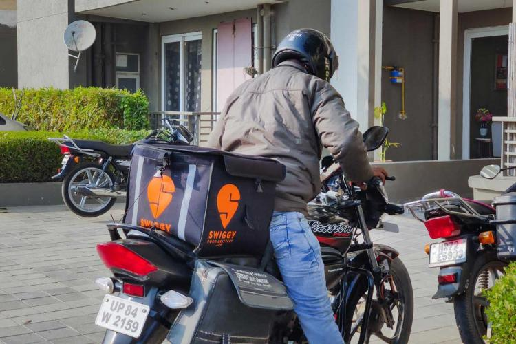 Swiggy delivery person