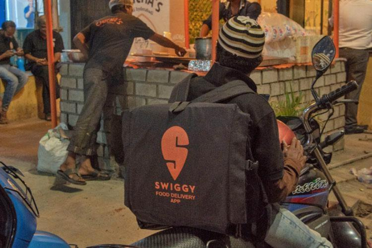 Swiggy workers in Chennai