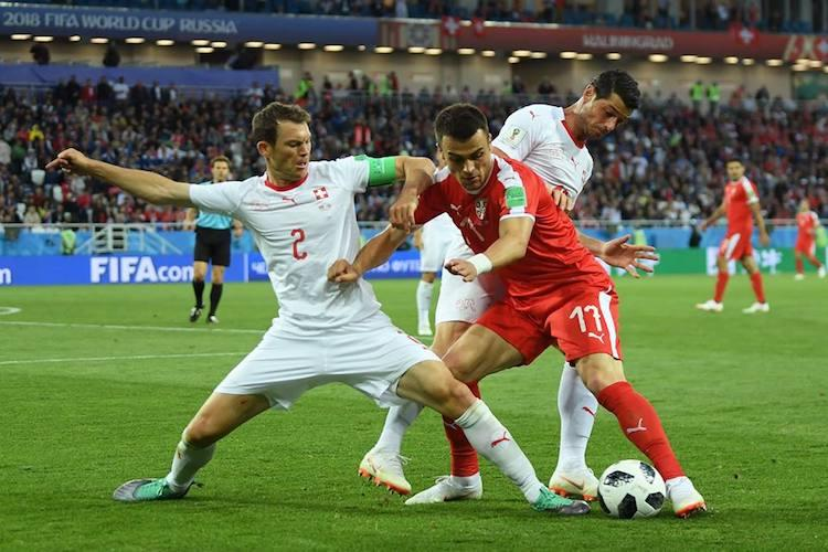 Switzerland come from behind to beat Serbia in Group E clash