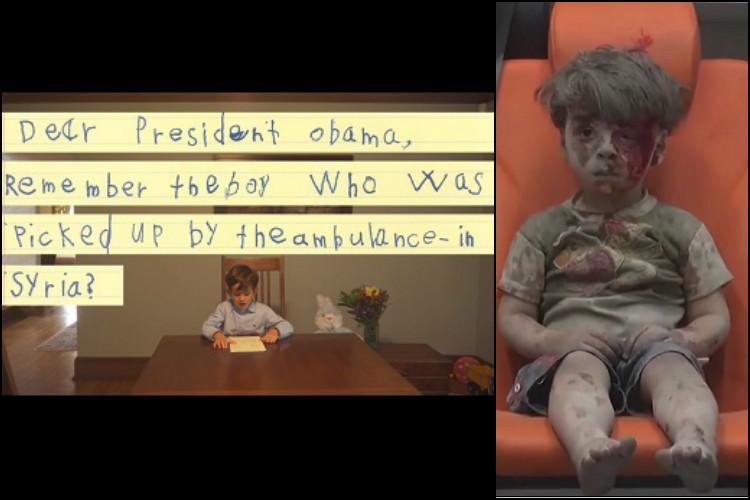 American 6-year-old asks Obama to bring Syrian boy Omran to US so he can share his home