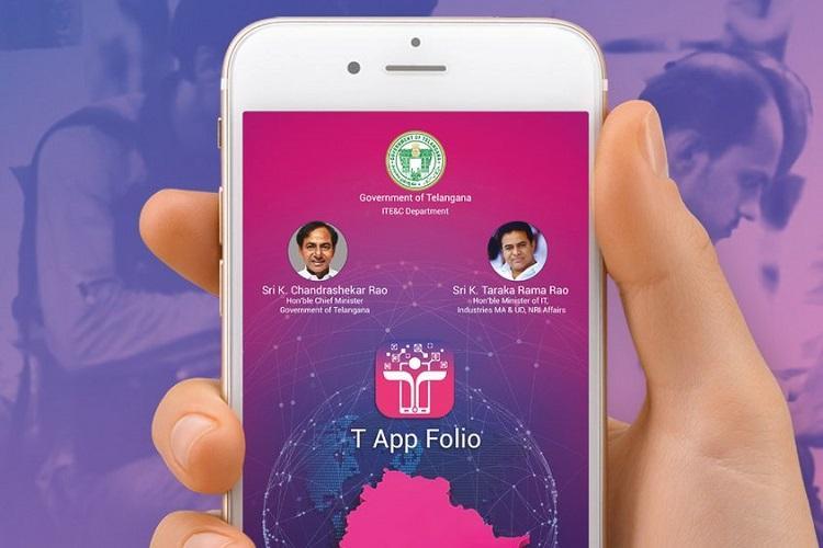 Telangana govts m-governance push Launches T App Folio states official app