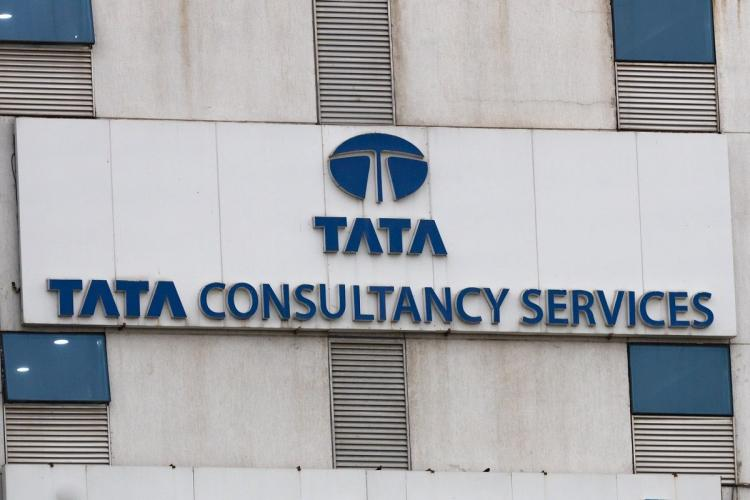 TCS logo on building