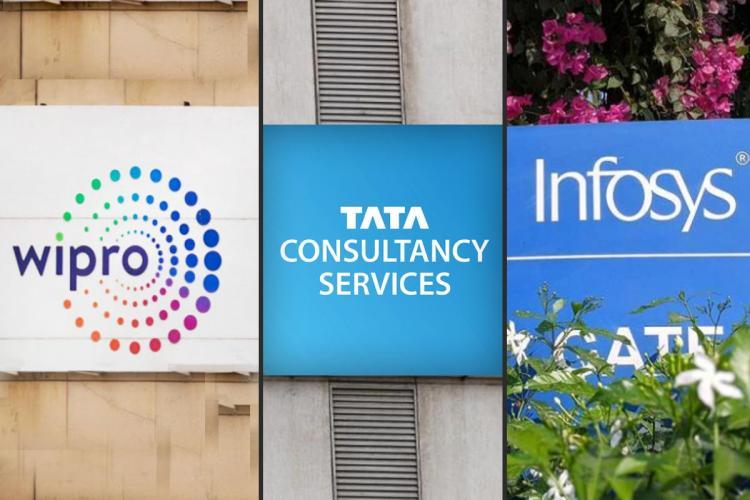Wipro, TCS, Infosys logos