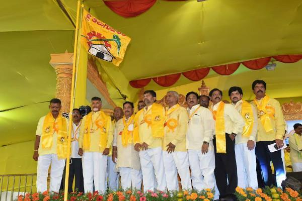 TDP Flag in Telangana considers spate of desertions