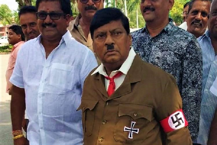 TDP MP shows up in Parliament dressed as Hitler warns PM Modi