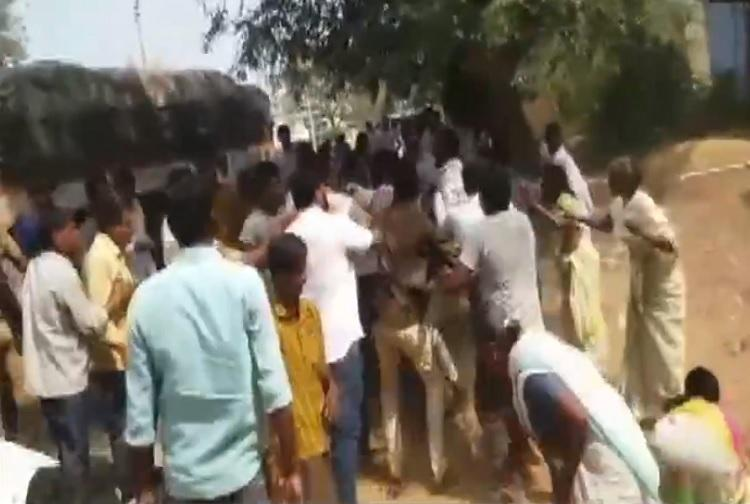 Andhra polls Multiple clashes between YSRCP and TDP one TDP worker dead