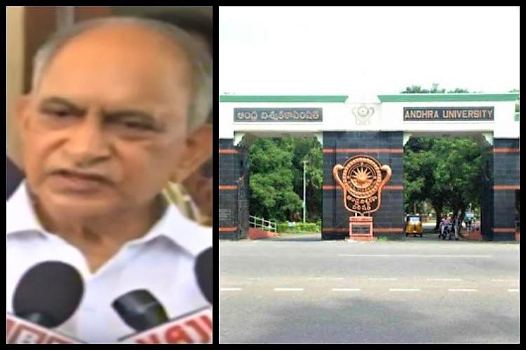 Andhra varsity student groups protest TDP Mahanadu on campus MLC calls varsity devils den