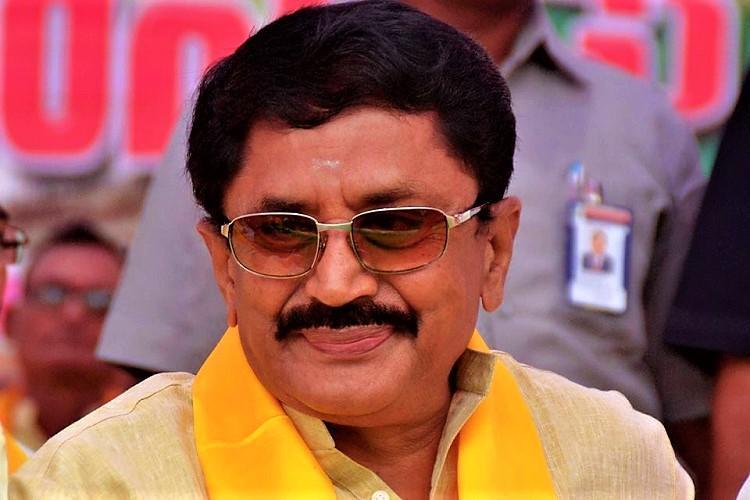 TDP MP Murali Mohan visits Tirumala apologises for Venkanna Chowdary tongue slip