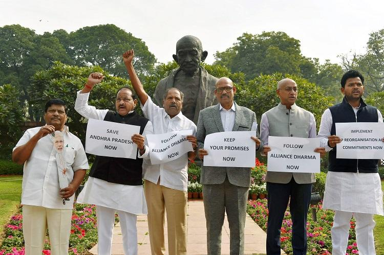 Rajnath Singh meets TDP MPs promises to take up injustice to Andhra with PM Modi