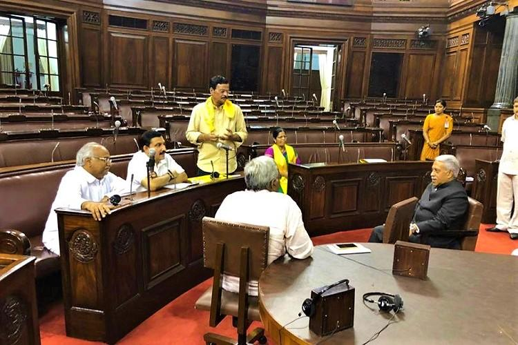 AP special status TDP MPs evicted from Rajya Sabha after refusing to leave