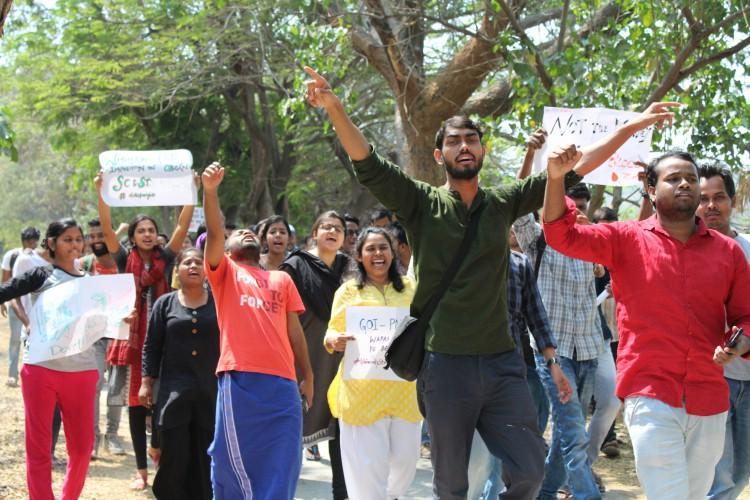TISS excluding marginalised students Protests rage over tuition fee