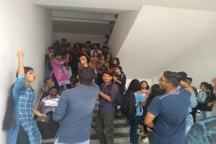 TISS Hyderabad students protest campus shift and new fee structure