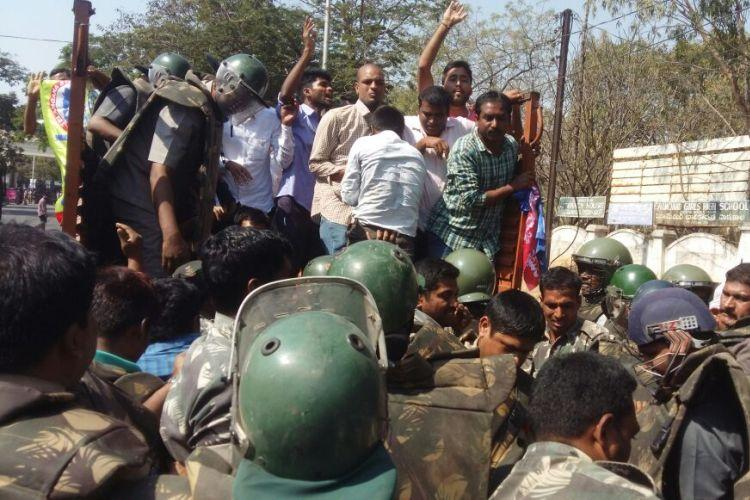 TJAC calls Kodandaram detention black day in Telangana sporadic protests in Hyderabad