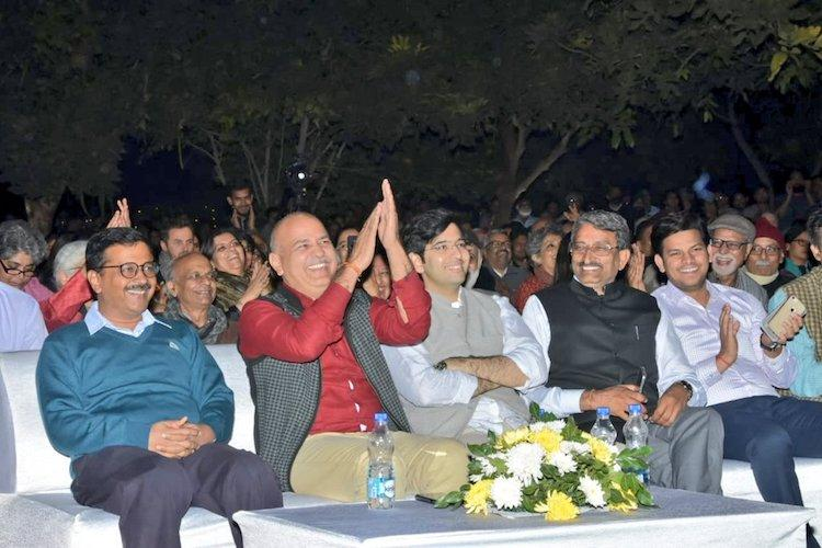 Kejriwal Sitaram Yechury and several others attend TM Krishnas concert in Delhi