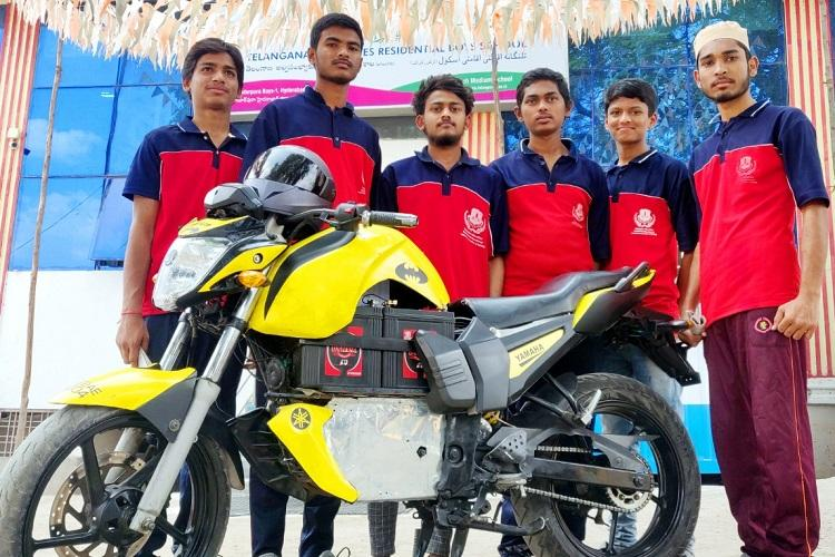 6 Telangana students from marginalised communities design eco friendly bike