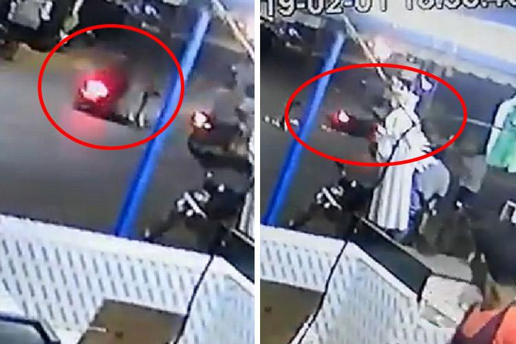 Watch Biker grievously injured after TN cop hits motorcycle with his lathi