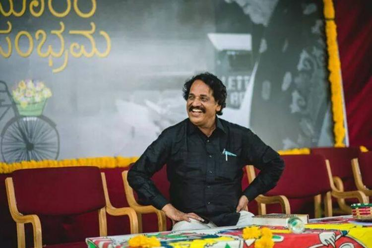 TN Seetharam at an event before the COVID-19 pandemic