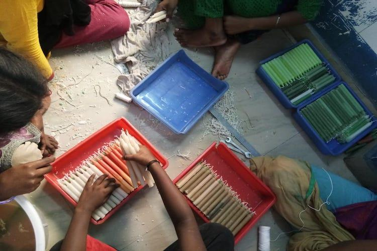 Kids from TN govt homes made over 2000 candles for cyclone-hit areas