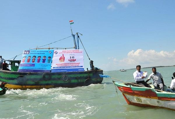 By land by air or by sea This TN Collector is on a mission to get people to vote