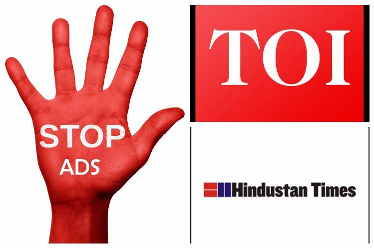 Ad block user You wont be able to read news on many sites including TOI and HT