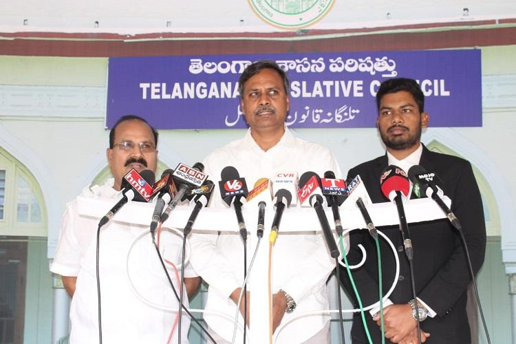 TRS demands disqualification of 3 MLCs for anti-party activities submits evidence