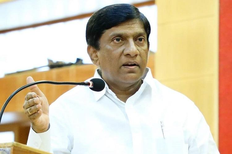 TRS MP Vinod Kumar addresses a gathering