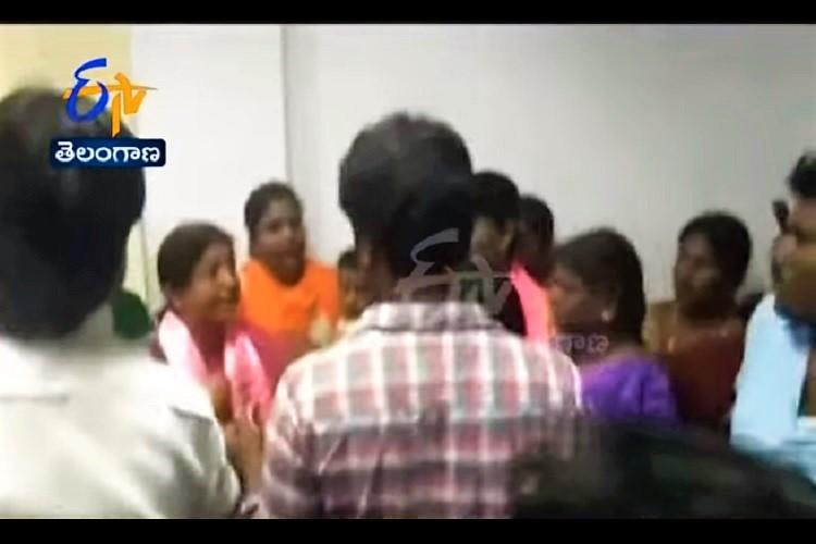 TRS member booked for allegedly assaulting woman GHMC official over sons statue