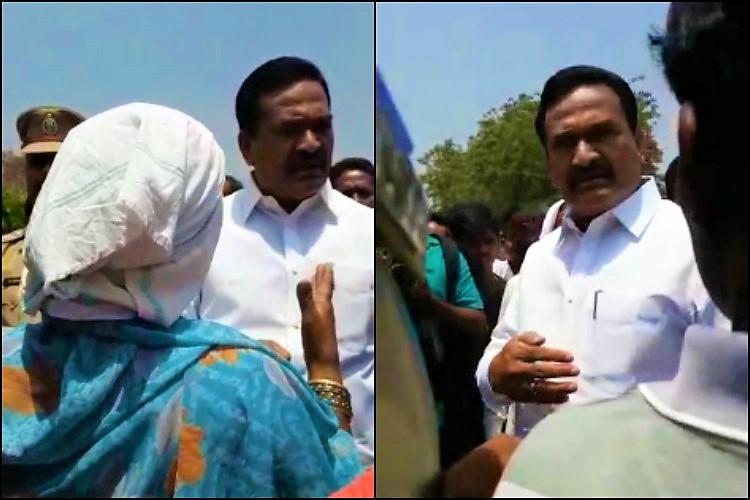 TRS MLA caught on camera abusing women farmers and intimidating journalist